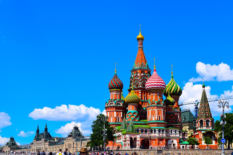 Moscow's Red Square, a trip from Gatwick