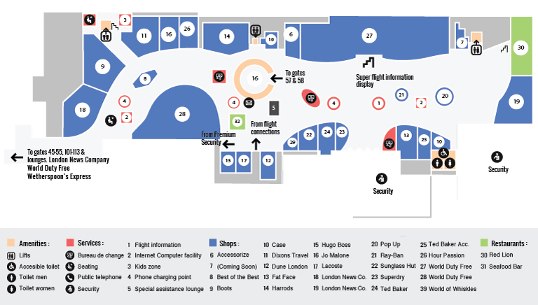 North Terminal Maps Lower Level