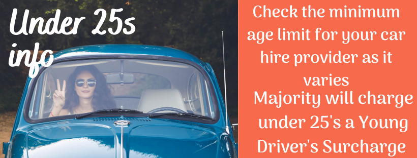 Car Hire at Gatwick Airport - under 25's